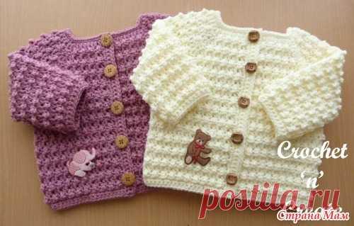 кофточка для малыша крючком вязание страна мам вязание малыши
