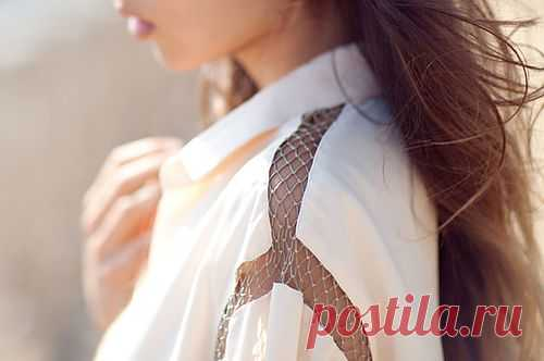 Интересное плечо / Блузки / Модный сайт о стильной переделке одежды и интерьера