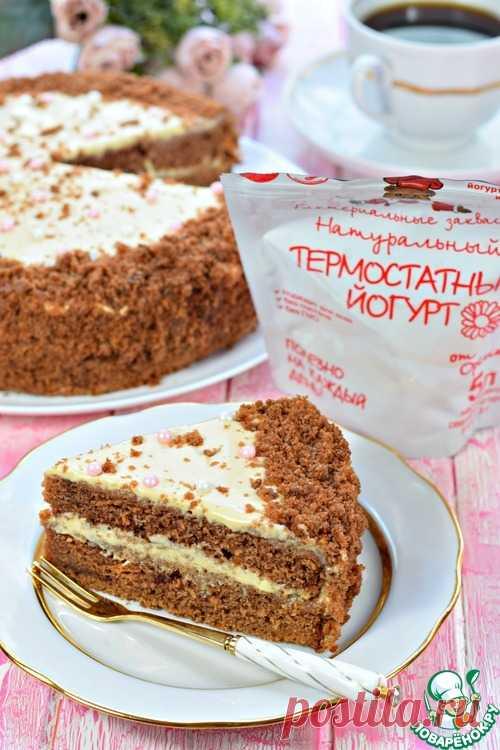 Торт шоколадный на йогурте – кулинарный рецепт