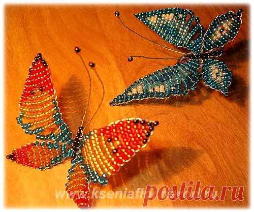 Бисерные бабочки | Золотые Руки