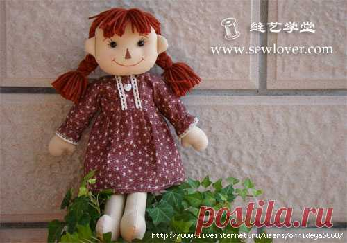 How to sew a cheerful doll.