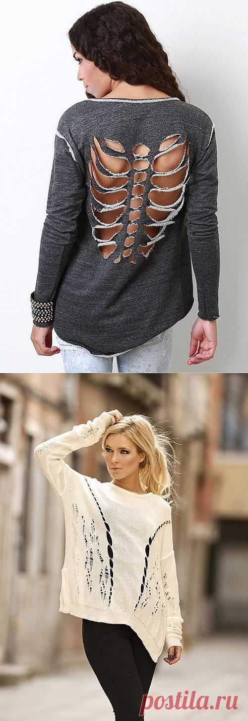 Подборка прорезей / Прорези / Модный сайт о стильной переделке одежды и интерьера