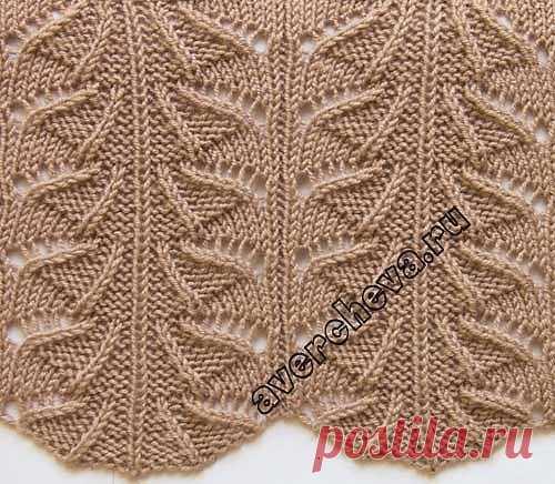 Ажурные узоры для вязания спицами (УЗОРЫ СПИЦАМИ) — Журнал Вдохновение Рукодельницы