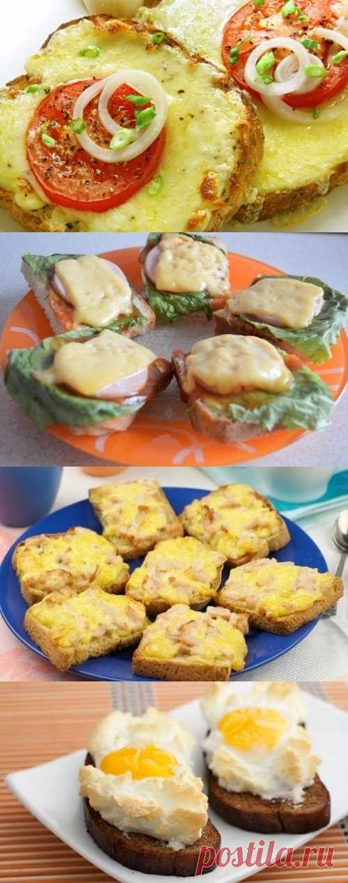 Несколько рецептов аппетитных горячих бутербродов (для получения рецепта нажмите 2 раза на картинку)