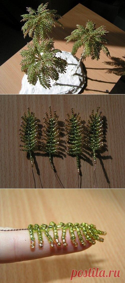 Пушистая пальма из бисера. — Сделай сам, идеи для творчества - DIY Ideas