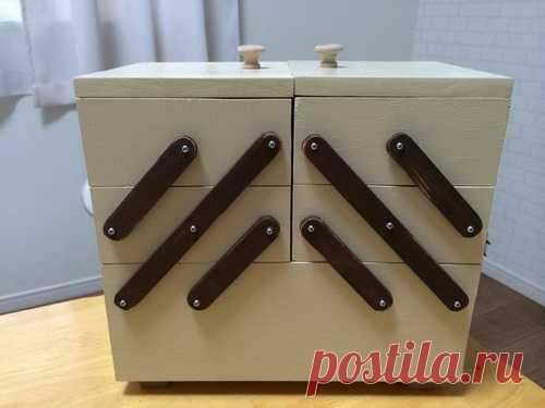 Раскладной ящик для швейных принадлежностей