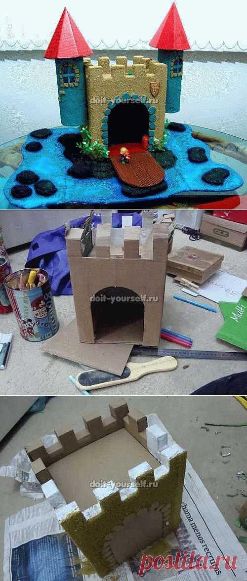 Строим замок из бумаги своими руками