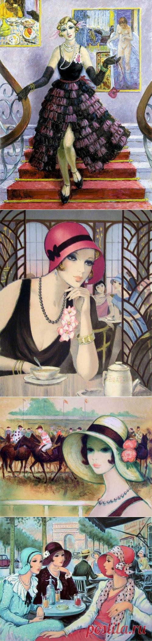 Как француженки красивы...Испанский художник Francois Batet