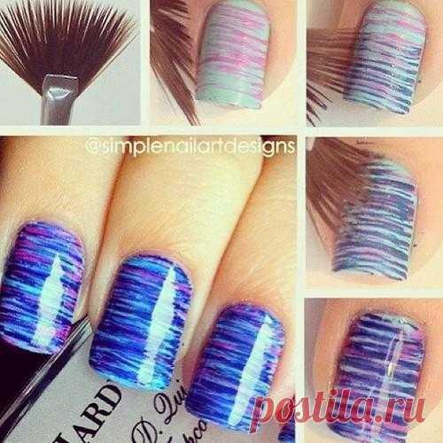 Дизайн ногтей кисточкой