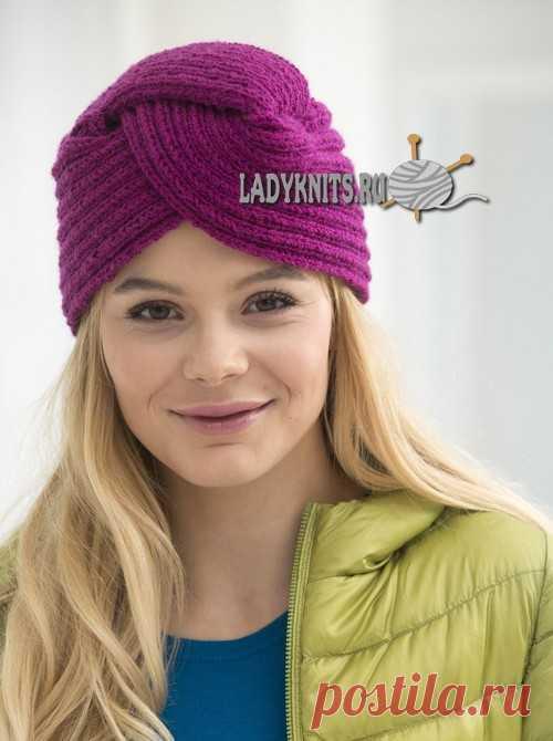 как вязать женский тюрбан чалму спицами описание шапки шарфы