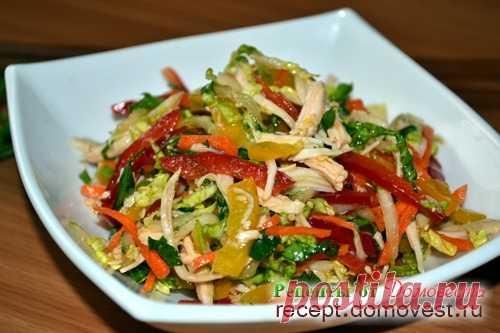 Азиатский салат Оливье – Корейская закуска из курицы и овощей