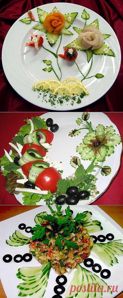 Украшение салатов, рулетики.