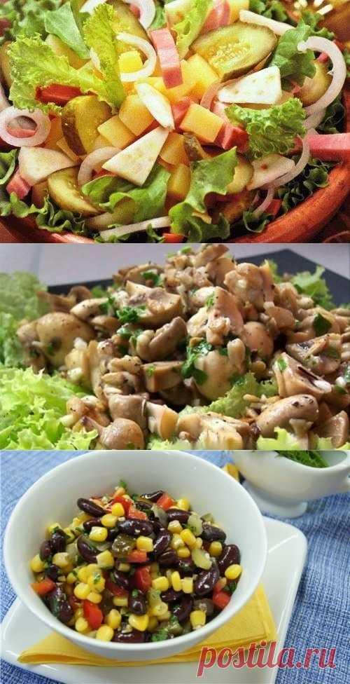 Несколько рецептов постных салатов (для получения рецепта нажмите 2 раза на картинку)