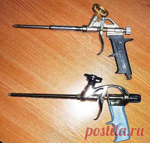 Выбираем пистолет для монтажной пены. Устройство пистолета