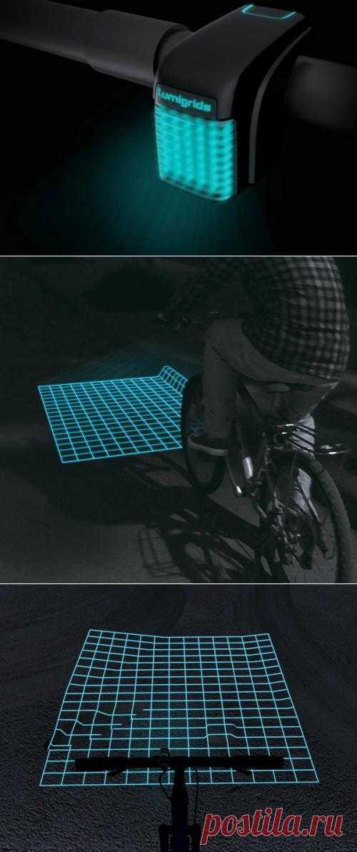 Концептуальный помощник велосипедиста: LED-проектор поездок в темноте | Лайфхакер