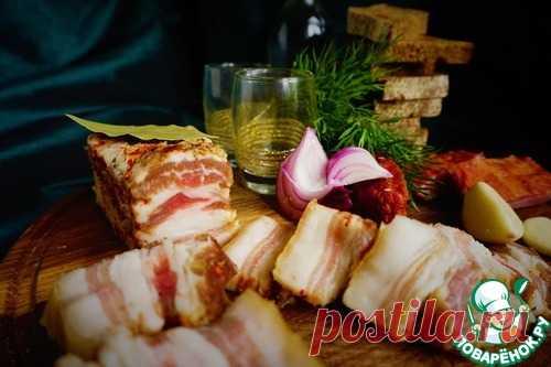 Сало-подчеревок оригинальной засолки – кулинарный рецепт