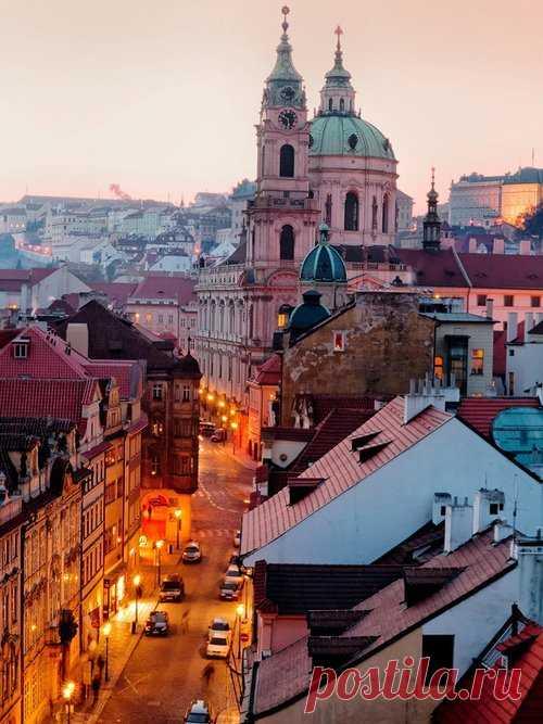 Красота вечерней Праги. Старый город.