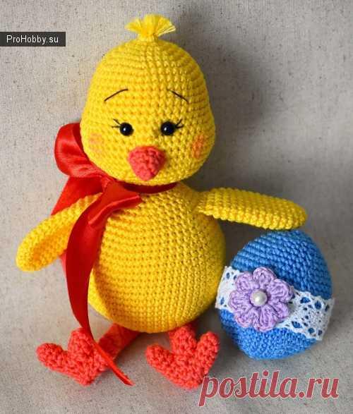 Вязаный цыпленок Татьяны Косточенковой / Вязание игрушек / ProHobby.su | Вязание игрушек спицами и крючком для начинающих, мастер классы, схемы вязания
