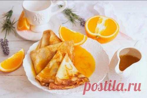 Креп Сюзетт – простой рецепт с апельсиновым соусом