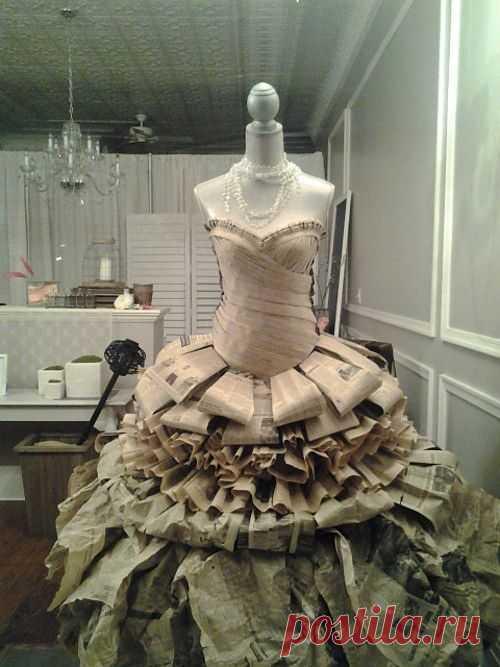 148-ое платье из газет) / Креатив в моде / ВТОРАЯ УЛИЦА