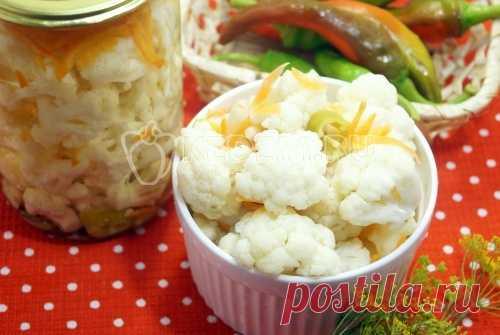 Маринованная цветная капуста «Хрустяшка» – Пошаговый рецепт с фото. Заготовки. Вкусные рецепты с фото