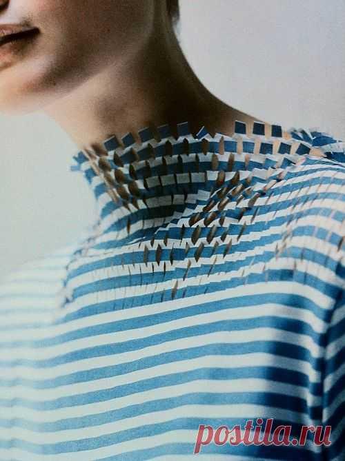 Ворот тельняшки WATANABE / Фактуры / Модный сайт о стильной переделке одежды и интерьера