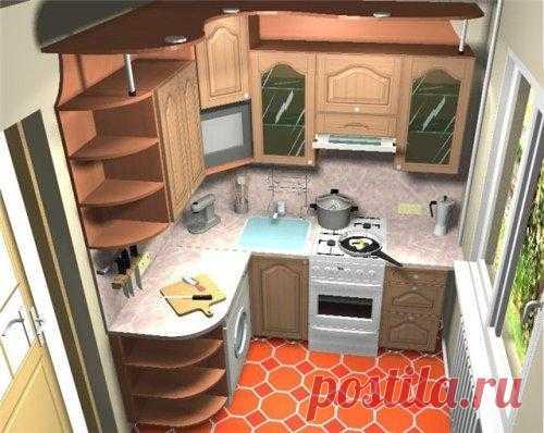 Маленькая кухня. Дизайн интерьера маленькой кухни своими руками. Фото