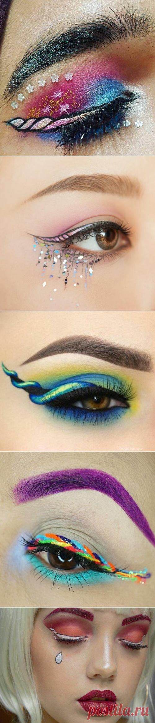 Новый модный тренд в Instagram: стрелки на глазах в виде рогов единорога