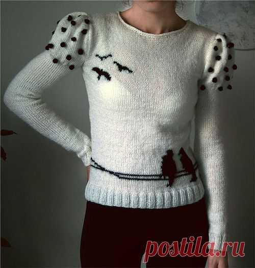 Свитерок с птичками / Вязание / Модный сайт о стильной переделке одежды и интерьера