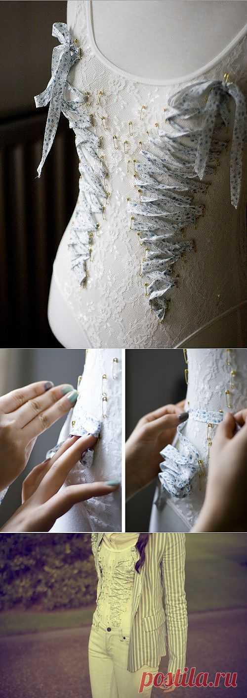 Булавочки и шнурочки (мастер - класс) / Декор спины / Модный сайт о стильной переделке одежды и интерьера