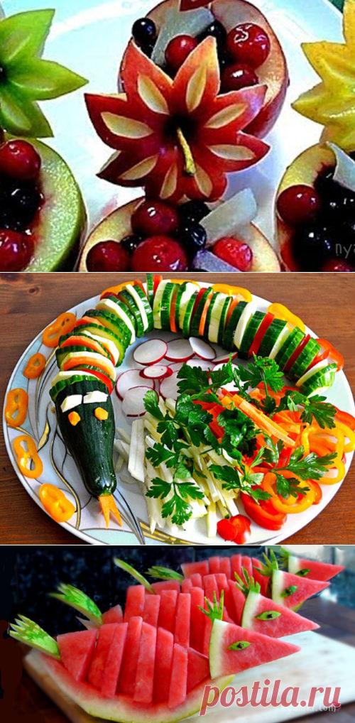 Как красиво нарезать арбуз — Нямки — самые вкусные и необычные рецепты