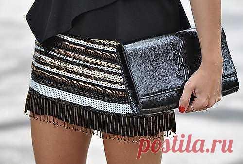 Расшитая юбка с бусинами / Юбки и их переделки / Модный сайт о стильной переделке одежды и интерьера