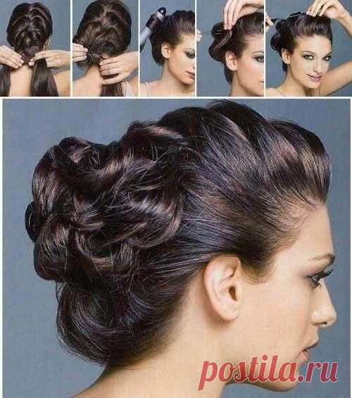 Evening hairdress