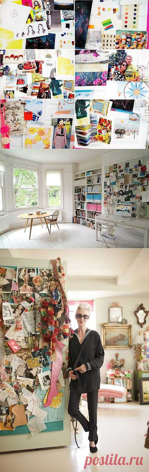 make an inspiration wall - wise craft