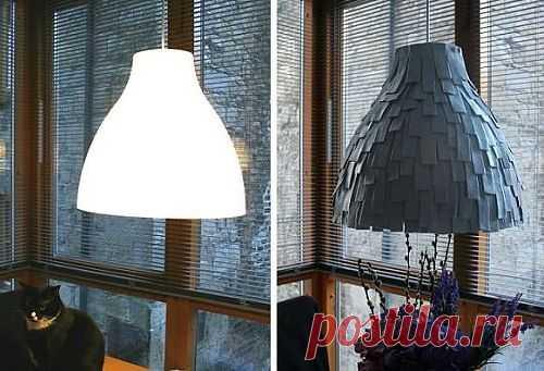 Декор абажура фетром (мастер -класс) / Освещение / Модный сайт о стильной переделке одежды и интерьера