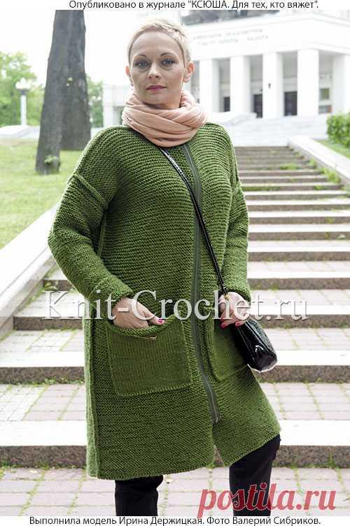 пальто спицами с накладными карманами пальто для женщин спицами