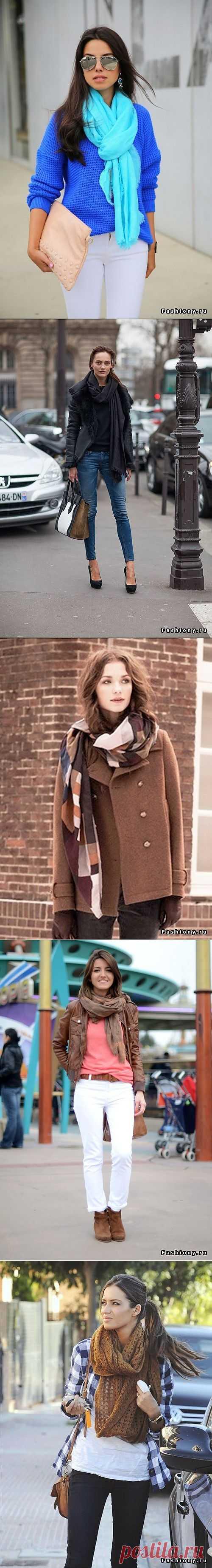 Осеннее вдохновение: Шарфы, платки, палантины