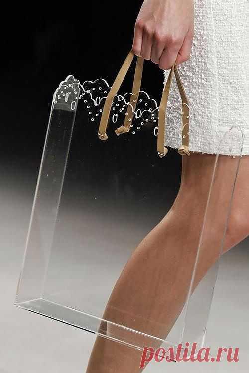 Прозрачный сумкопакет / Вещь / Модный сайт о стильной переделке одежды и интерьера