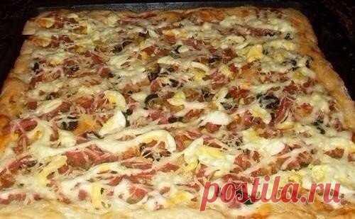Пицца на кефирном тесте – пальчики оближешь!