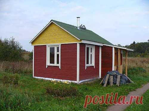 Маленький домик своими руками для постоянного проживания