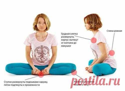 Очень полезное упражнение для женского здоровья — «Бабочка».