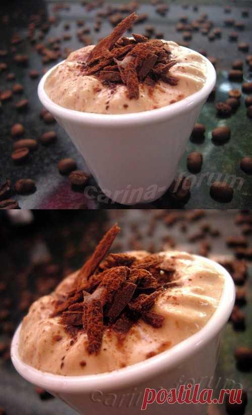 Кофейно - творожный мусс