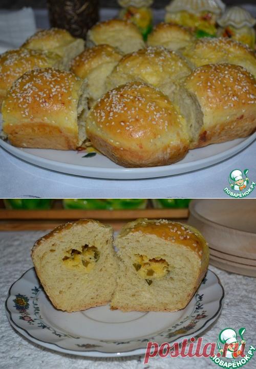 Сырные пампушки с пикантной начинкой - кулинарный рецепт
