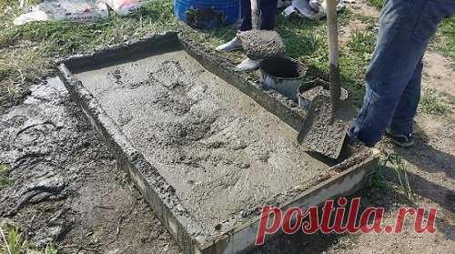 Хитрости замешивания бетона своими руками, которые значительно облегчат этот тяжелый труд. | мастер на все руки | Яндекс Дзен