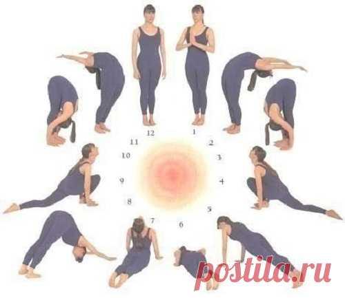 Утренняя разминка из йоги