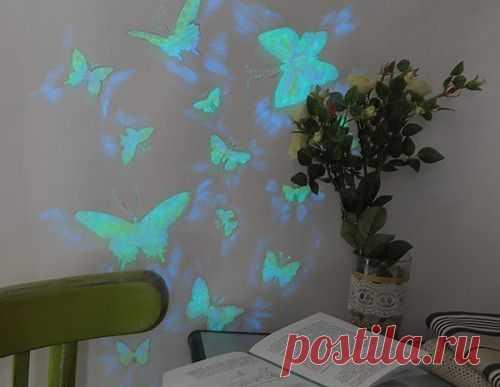 Светящийся рисунок на стене