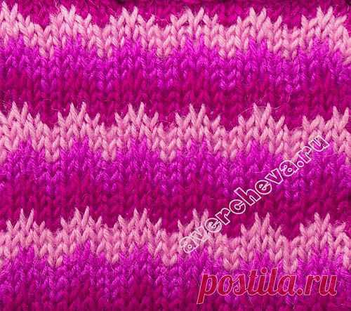pattern 235th color waves | catalog knitted spokes of patterns