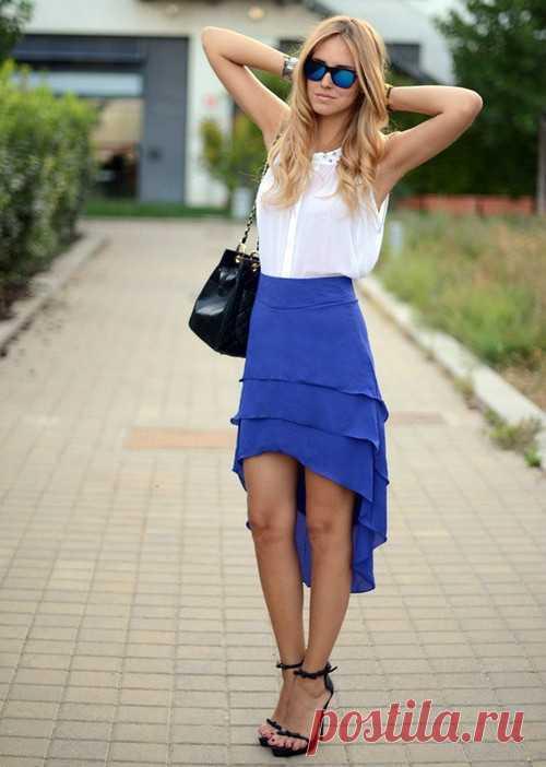 Многослойный шлейф / Юбки и их переделки / Модный сайт о стильной переделке одежды и интерьера