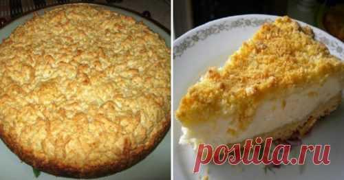Рецепт полезного и вкусного тертого пирога с творогом. Вкус из детства