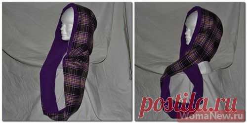 Выкройка башлыка+ мастер класс. Башлык — это такой капюшон, совместный с шарфом. И красиво, и удобно и ооочень тепло..